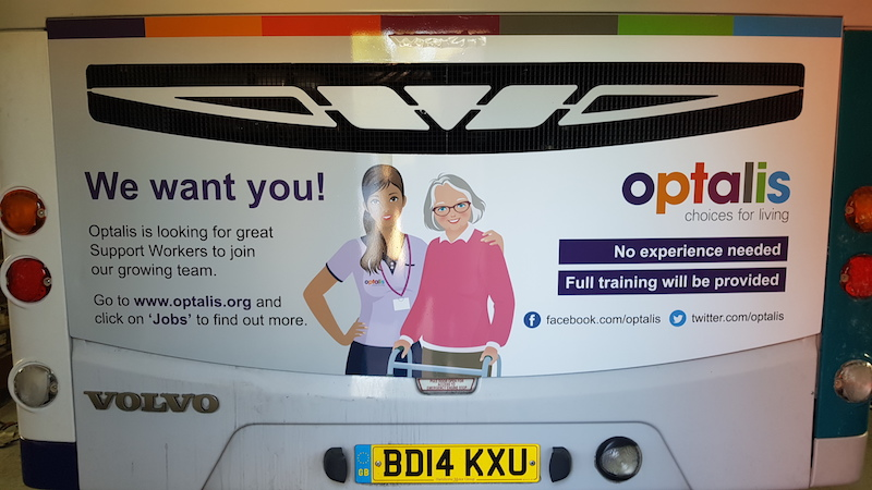 local bus advertising for optalis